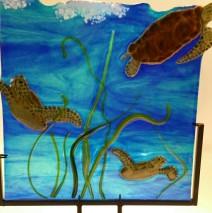 Whimsical turtles